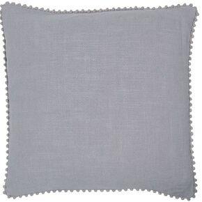 Beka Grey Pom Pom Cushion, , large