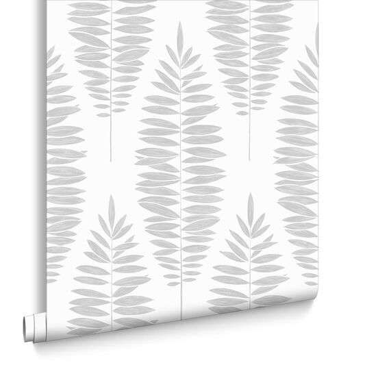 Lucia White & Silver Wallpaper, , large
