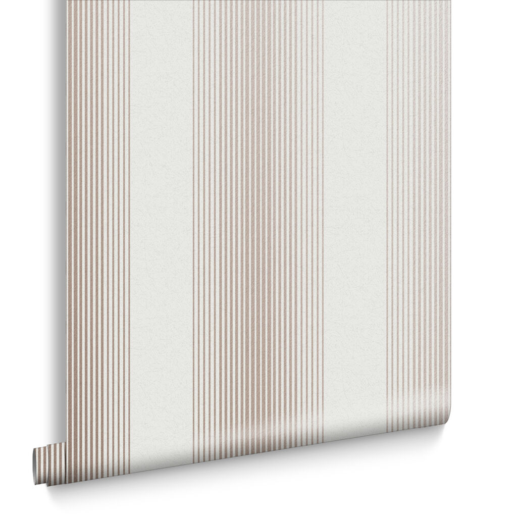 Lagom Stripe White & Rose Gold Wallpaper, , large
