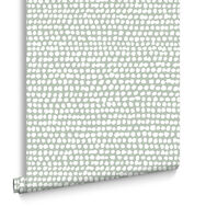 Dots Green Behang, , large