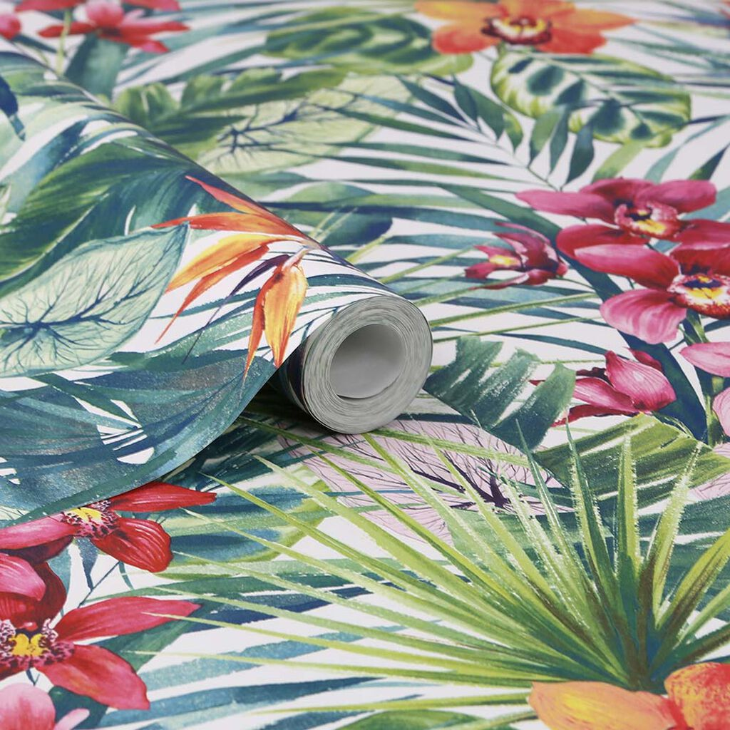 Aloha Tropical Wallpaper, , large