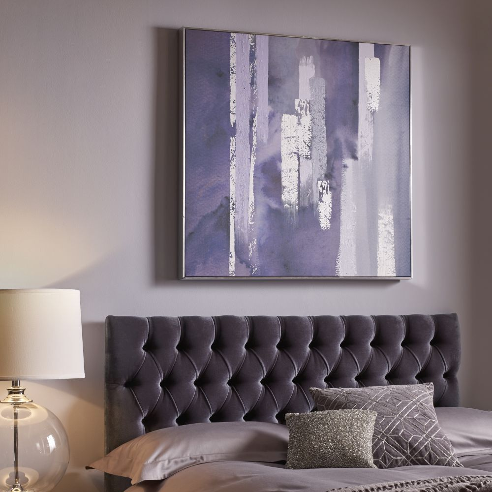 ... Large Purple Harmony Framed Canvas Wall Art , ...