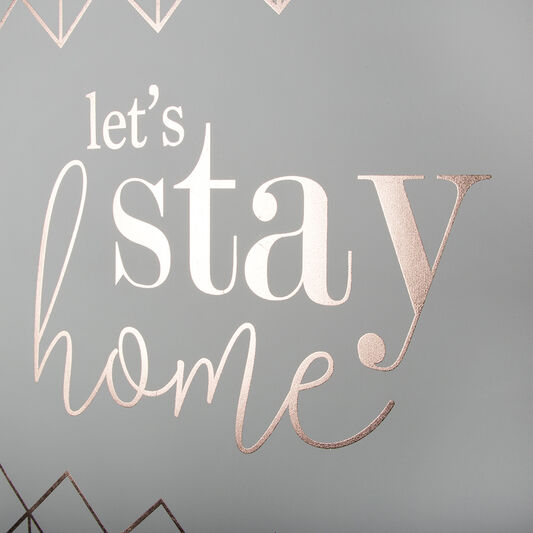 Let's Stay Home Wall Art, , large