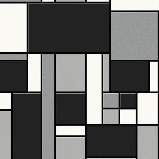 Geo Black and White Wallpaper, , large