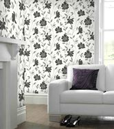 Camille Black and White Wallpaper, , large