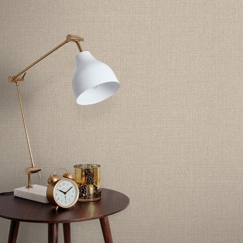 Linen Beige Behang, , large