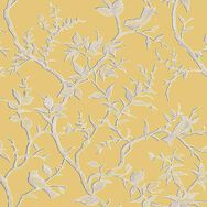 Laos Trail Yellow & Gold Wallpaper, , large