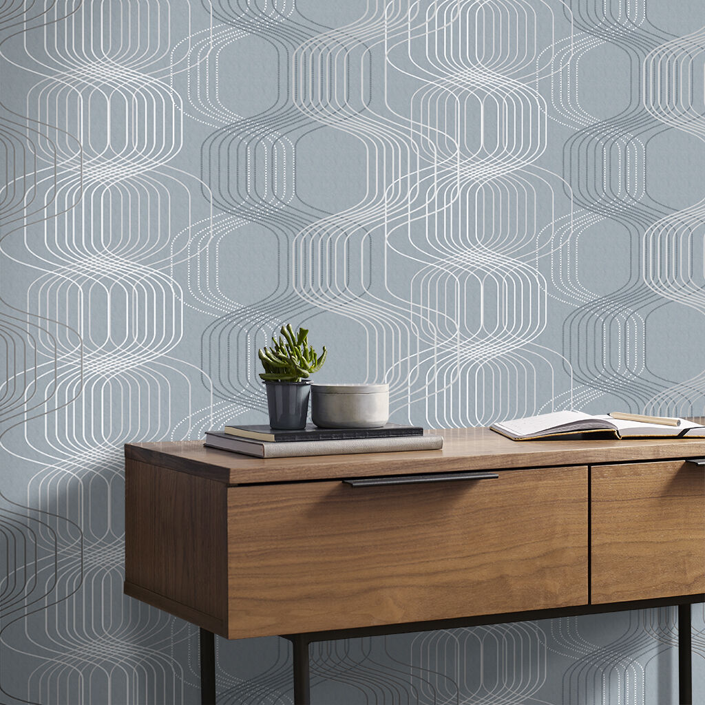 Revival Denim Wallpaper, , large