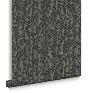 Cashmere Charcoal & Champagne Behang, , large