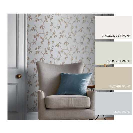 Twining Powder Blue Wallpaper, , large