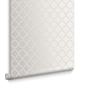 Trelliage Bead Pearl Wallpaper, , large