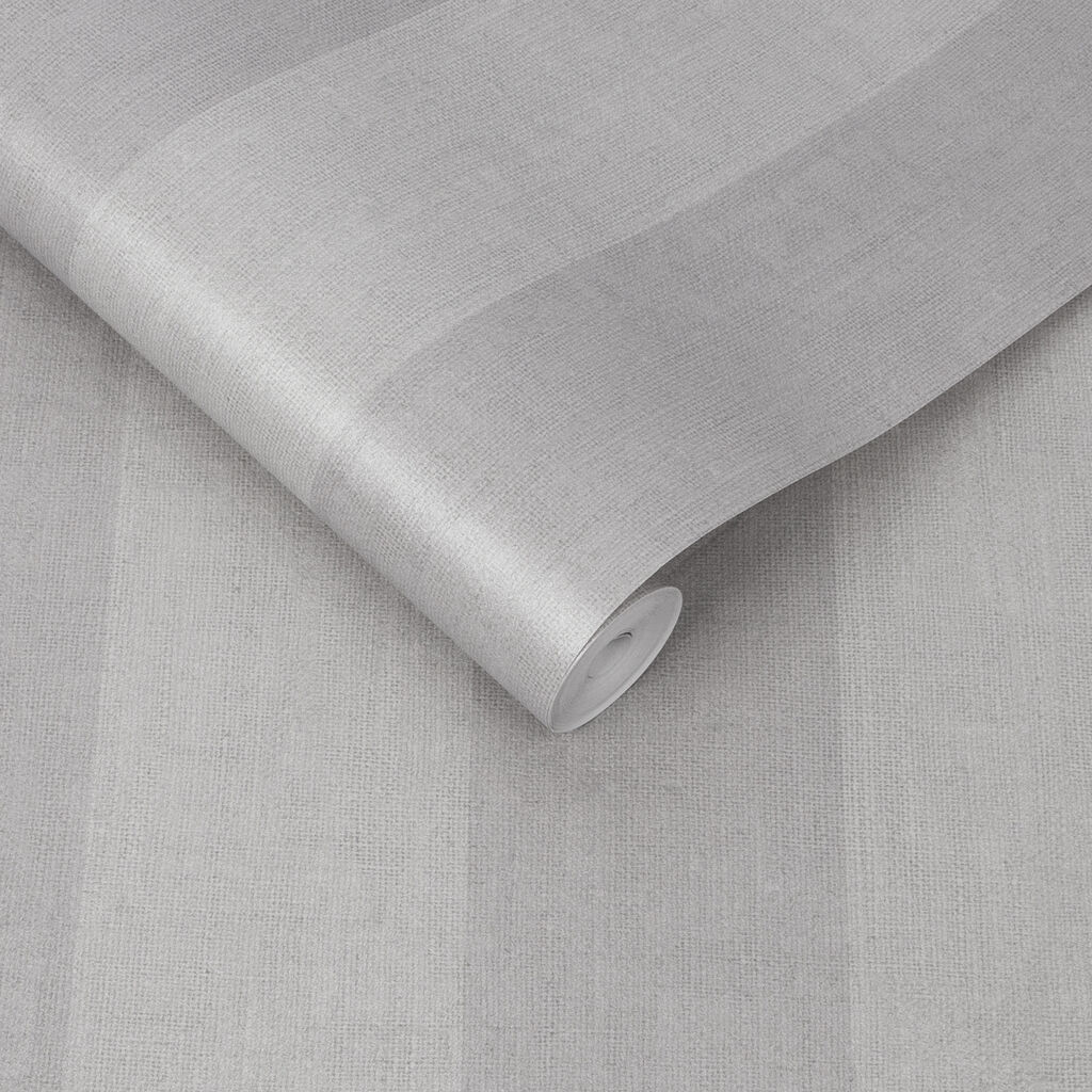 Heritage Stripe Gray Wallpaper, , large
