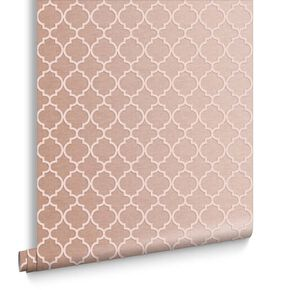 Trelliage Bead Rose Gold Wallpaper, , large