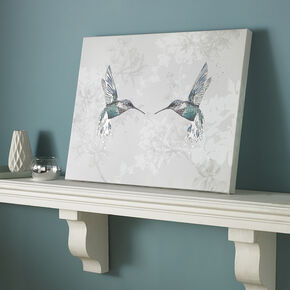 Bedruckte Leinwand Hummingbirds, , large