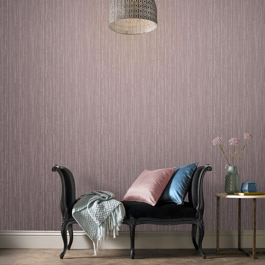 Bamboo Texture Pink Wallpaper, , large