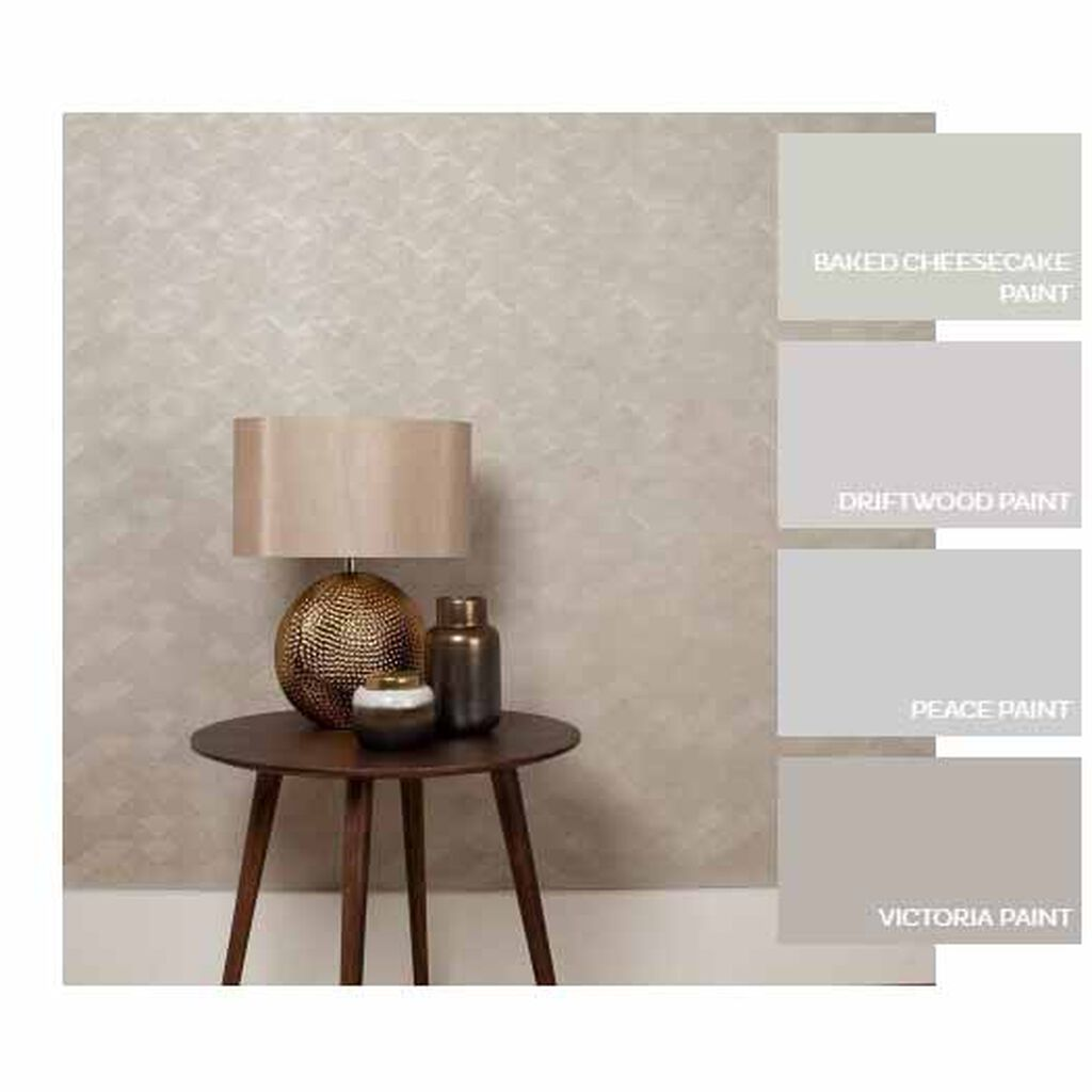 Tessellate Mink Wallpaper, , large