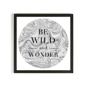 Be Wild & Wonder Framed Print, , large