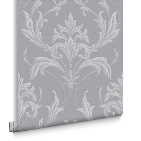 Oxford Silver and Gray Wallpaper , , large