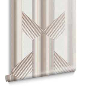 Lagom Geo White & Rose Gold Wallpaper, , large