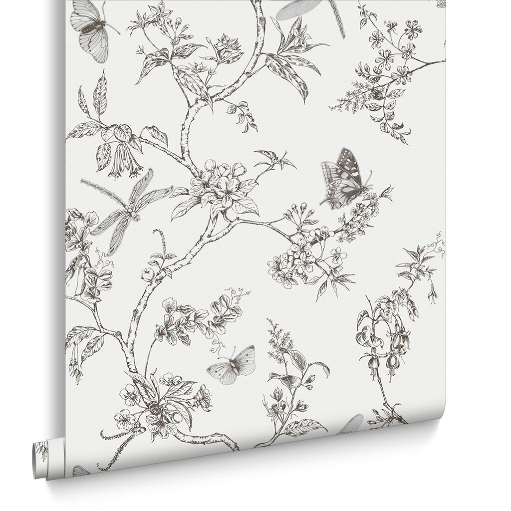 Nature Trail White Mica Wallpaper, , large