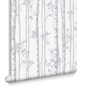 Linden Pearl and Gray Wallpaper , , large