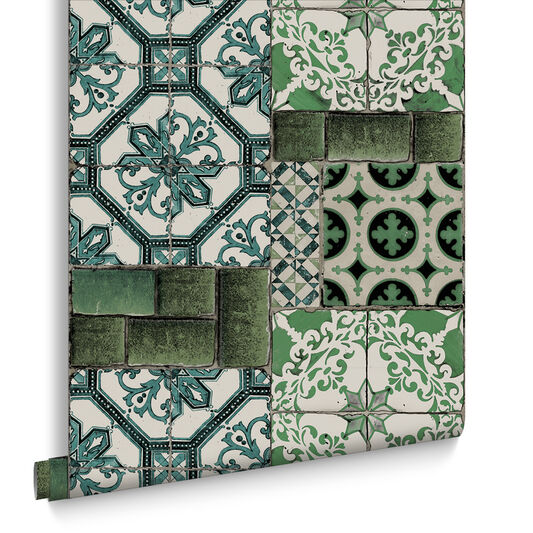 Portuguese Tile Wallpaper, , large