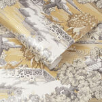 Edo Toile Mustard Wallpaper