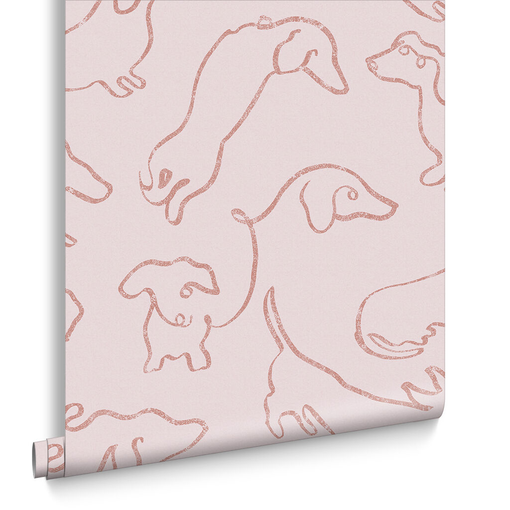 Buckley Pink Wallpaper, , large
