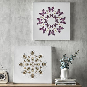 Beautiful Bees Printed Canvas Wall Art, , large
