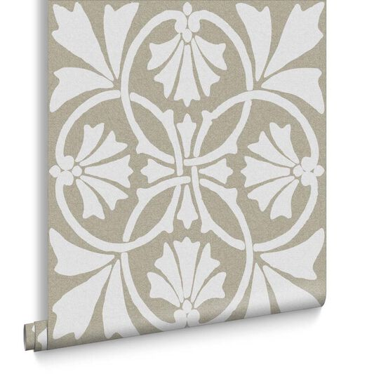 Thrones Chalk & Taupe Wallpaper, , large