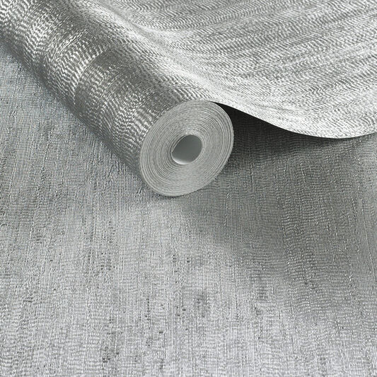 Water Silk Plain Silver Wallpaper, , large