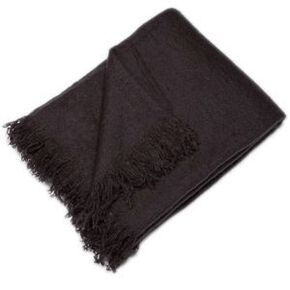 Slate Grey Cosy Throw, , large