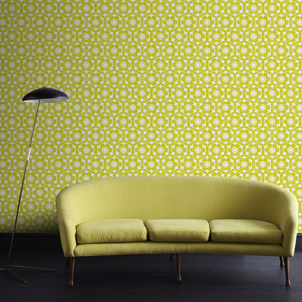 Funky Flora Lime and Ice Wallpaper | Graham & Brown