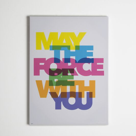Star Wars Neon May The Force Be With You Printed Canvas Graham Brown