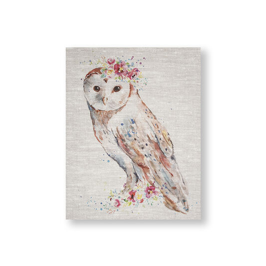 Bedruckte Leinwand Floral Owl, , large