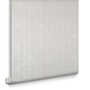 Linear White Wallpaper, , large
