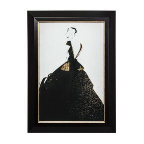 Glamour Fashion Metallic Framed Art, , large
