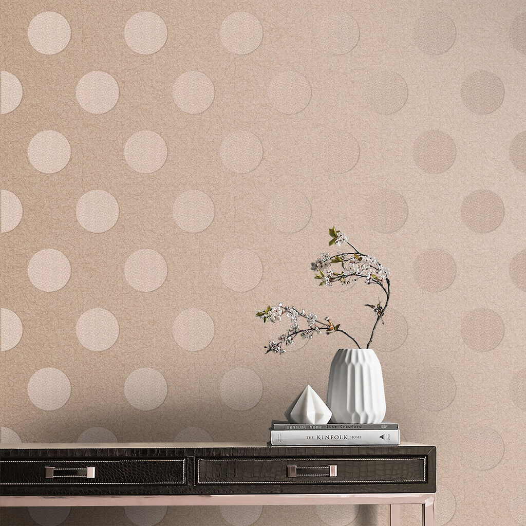Polka Rose Quartz Bead Wallpaper, , large