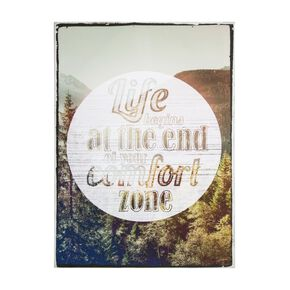 Life Begins Printed Canvas Wall Art , , large