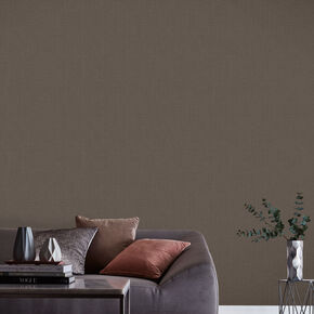 Linen Chocolate Wallpaper, , large