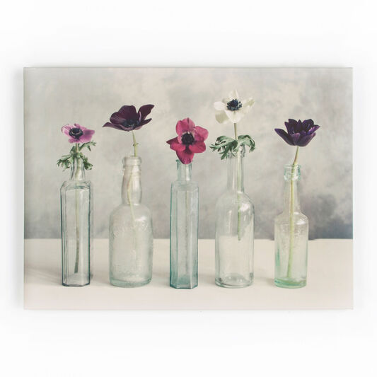 Floral Row Printed Canvas Wall Art, , large
