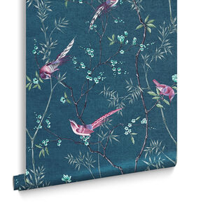 Tori Teal Wallpaper, , large