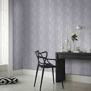 Vermeil Stripe Silver Wallpaper, , large