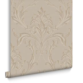 Oxford Beige & Gold Behang, , large