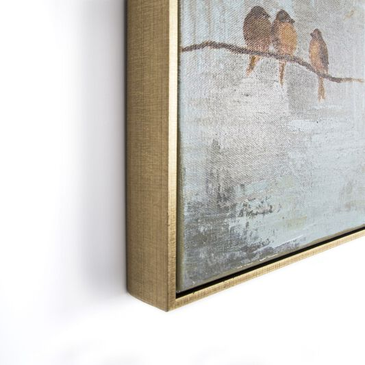Flock Of Birds Handpainted Framed Canvas Wall Art, , large