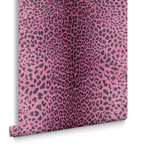 Leopard Pink Behang, , large