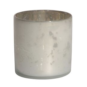Silver Glass Tealight Holder Small, , large