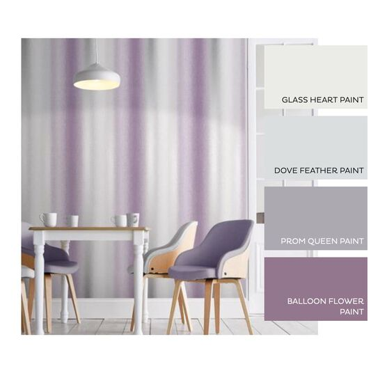 Wild Flower Stripe Plum Behang, , large