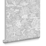 Basuto Grey Wallpaper, , large