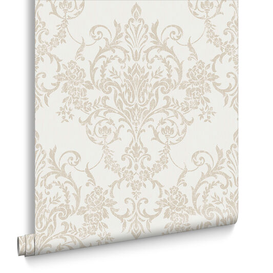 Victorian Damask Gold Wallpaper, , large